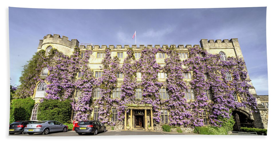 Castle Bath Sheet featuring the photograph The Castle Hotel by Rob Hawkins