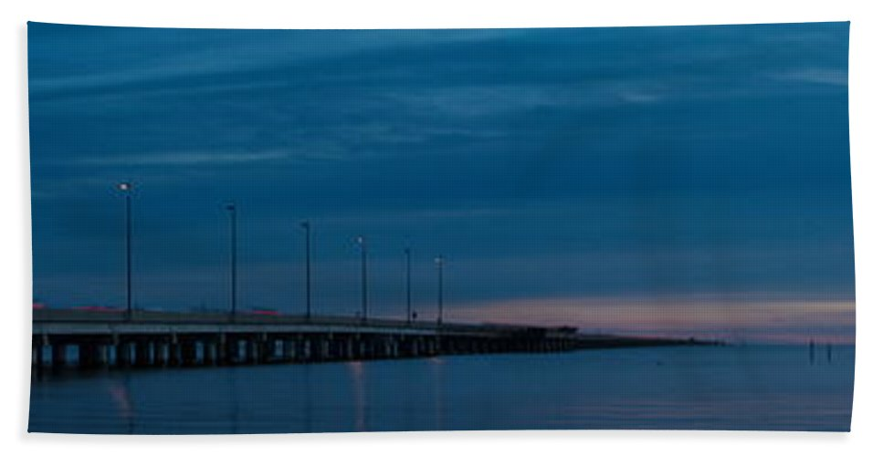 Panoramas Hand Towel featuring the photograph The Causeway Bridge by Anthony Walker Sr