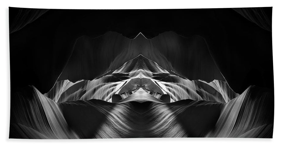 3scape Bath Towel featuring the photograph The Cave by Adam Romanowicz