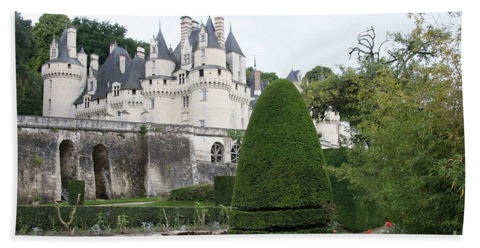 Palace Bath Sheet featuring the photograph The Chateau's Towers View by Christiane Schulze Art And Photography