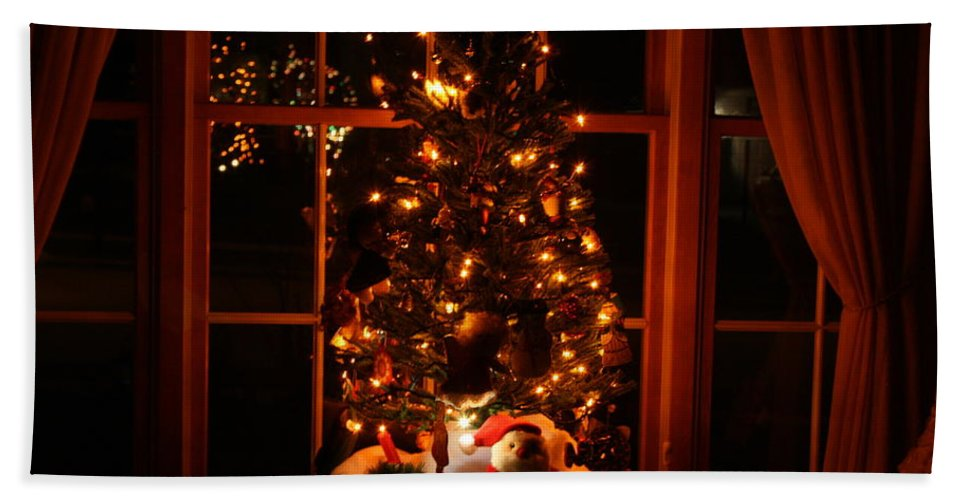 Nature Bath Sheet featuring the photograph The Christmas Tree by Kay Novy