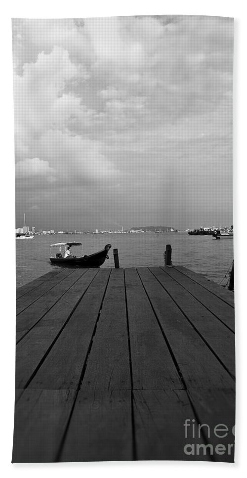 Photography Hand Towel featuring the photograph the Clan Jetty by Ivy Ho