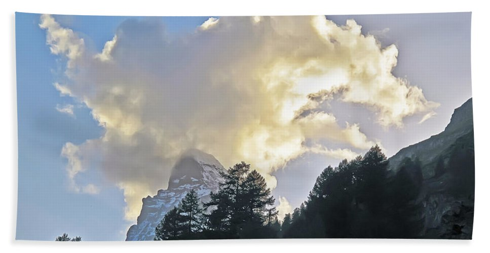 Travel Bath Sheet featuring the photograph The Cloud Above by Elvis Vaughn