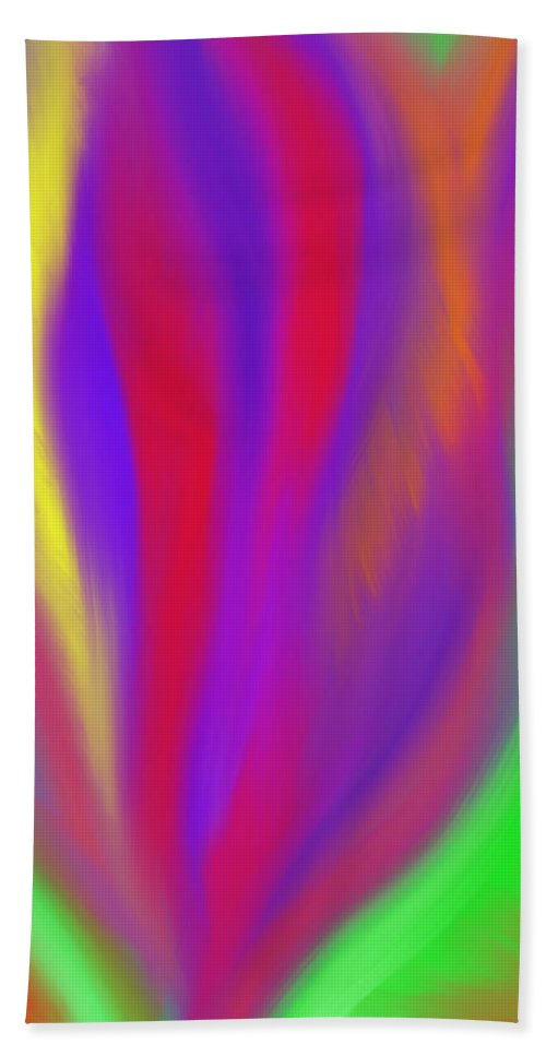 Vibrant Hand Towel featuring the painting The Colors' Creation by Daina White
