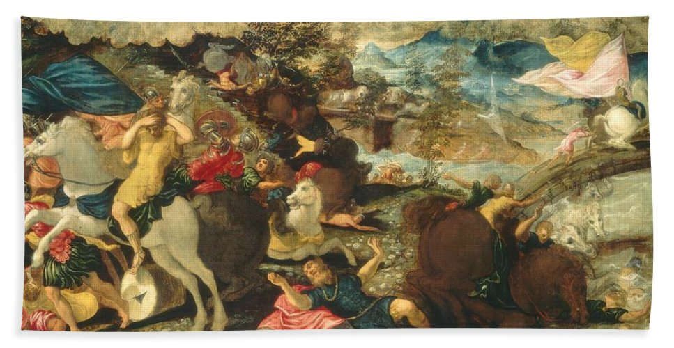 1545 Hand Towel featuring the painting The Conversion Of Saint Paul by Tintoretto