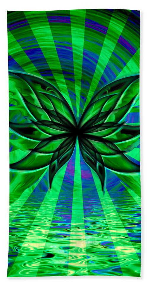 Butterfly Hand Towel featuring the digital art The Cool Waters Of My Soul by Teri Schuster
