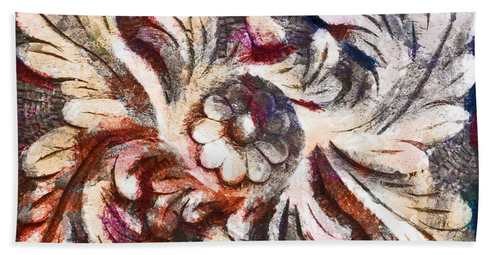 Crayon Hand Towel featuring the photograph The Crayoned Leaves by Steve Taylor