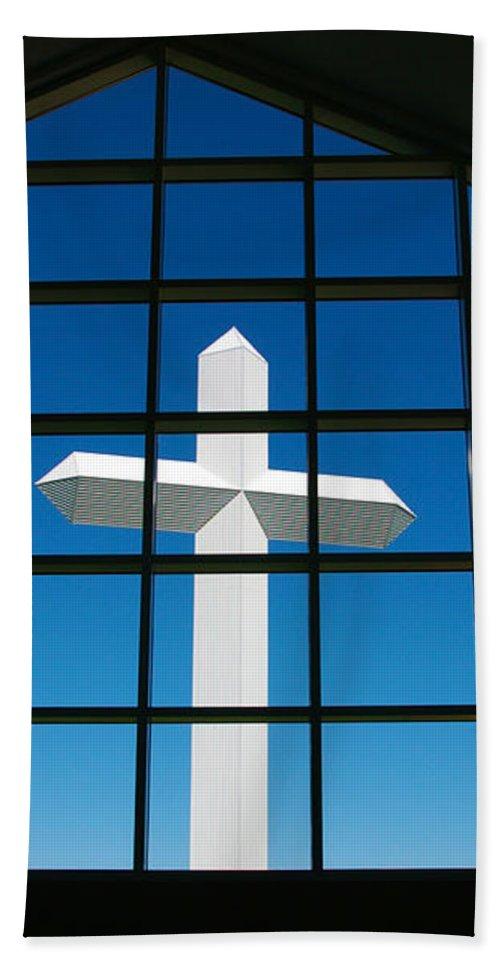 Cross Bath Sheet featuring the photograph The Cross by John Dauer