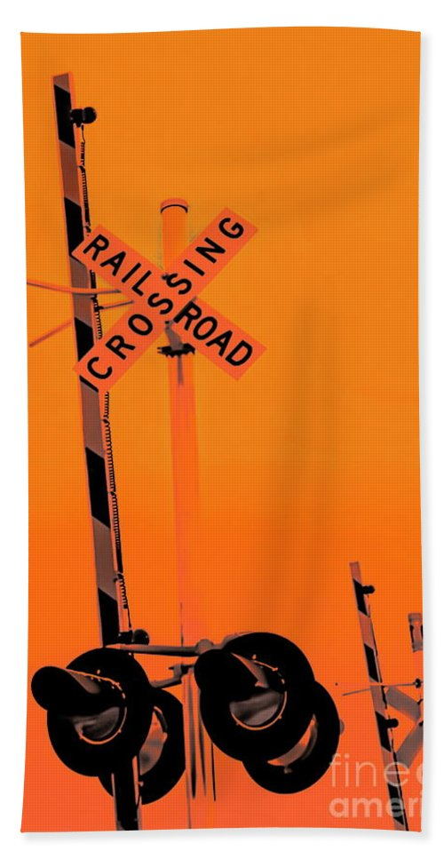 Digital Altered Photo Hand Towel featuring the digital art The Crossing A by Tim Richards