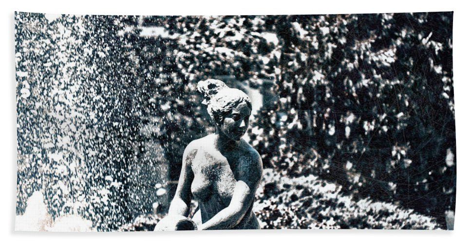 Details Hand Towel featuring the photograph The Daughter Brings The Water by Rabiri Us