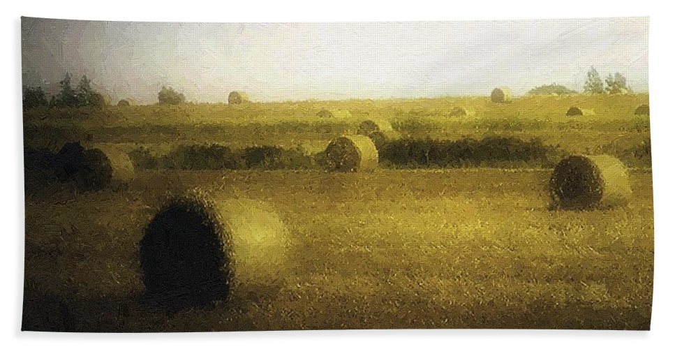 Field Hand Towel featuring the painting The Dawning by RC DeWinter