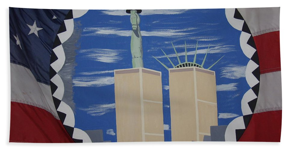 Patriotic Hand Towel featuring the painting The Day Before by Dean Stephens