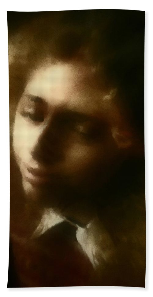 Girl Hand Towel featuring the painting The Daydream by RC DeWinter