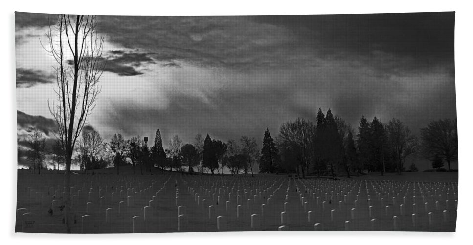 Special Effect Hand Towel featuring the photograph The Dead Lie Here by Mick Anderson