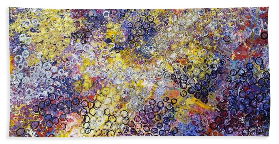 Blue Hand Towel featuring the painting The Degrees Of Color by Sherry Harradence