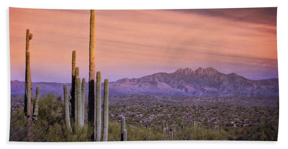 Skyscape Bath Sheet featuring the photograph The Desert Beckons by Saija Lehtonen