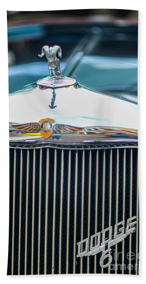 Cars Bath Sheet featuring the photograph The Dodge by Amanda Sinco