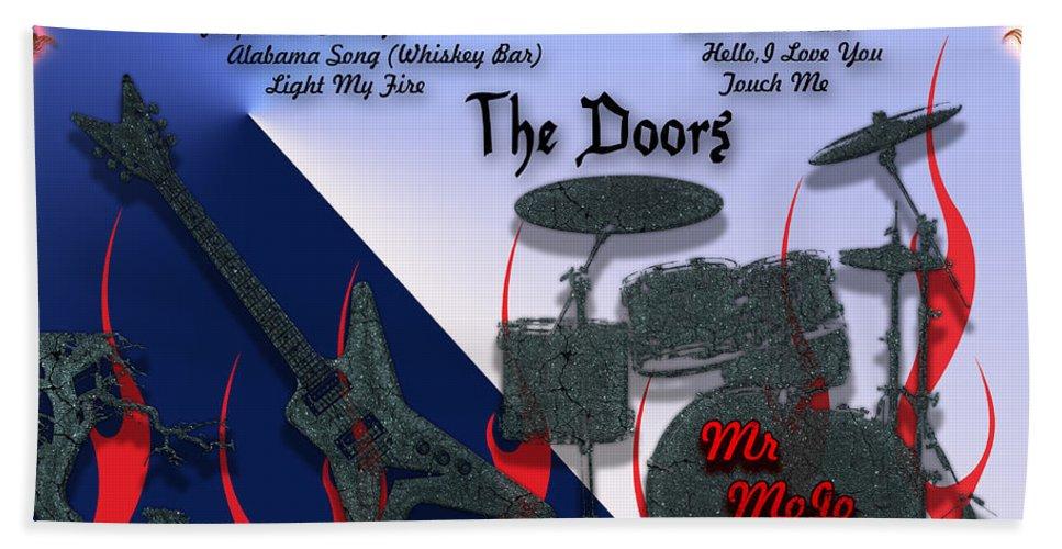 Light Bath Sheet featuring the digital art The Doors by Michael Damiani