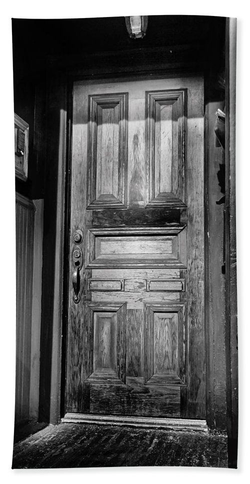 Brady Street Bath Sheet featuring the photograph The Doorway by Debbie Nobile