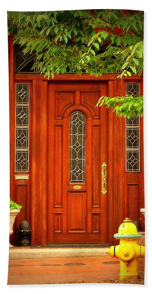 Fine Art Hand Towel featuring the photograph The Dream Door by Rodney Lee Williams