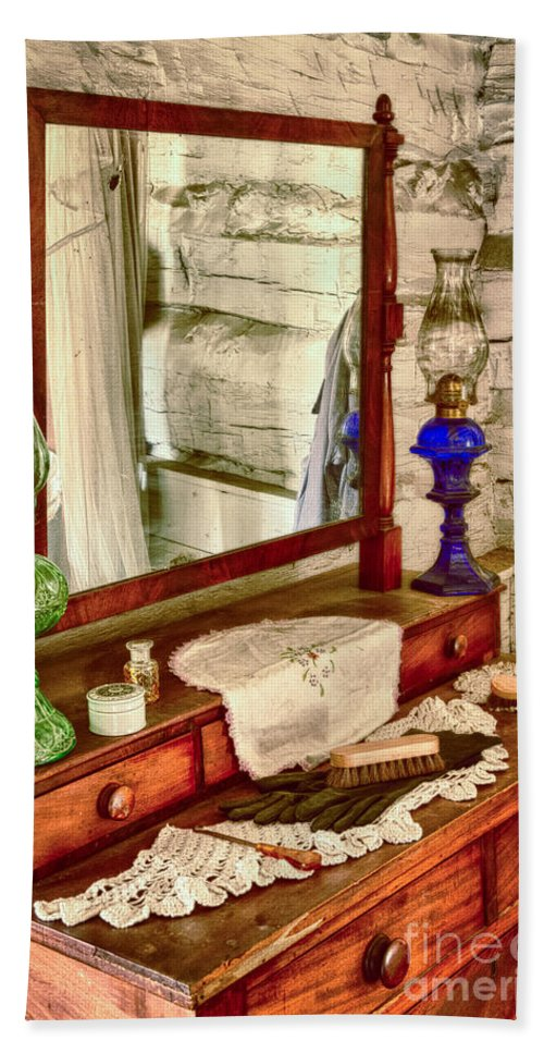 America Hand Towel featuring the photograph The Dresser by Inge Johnsson