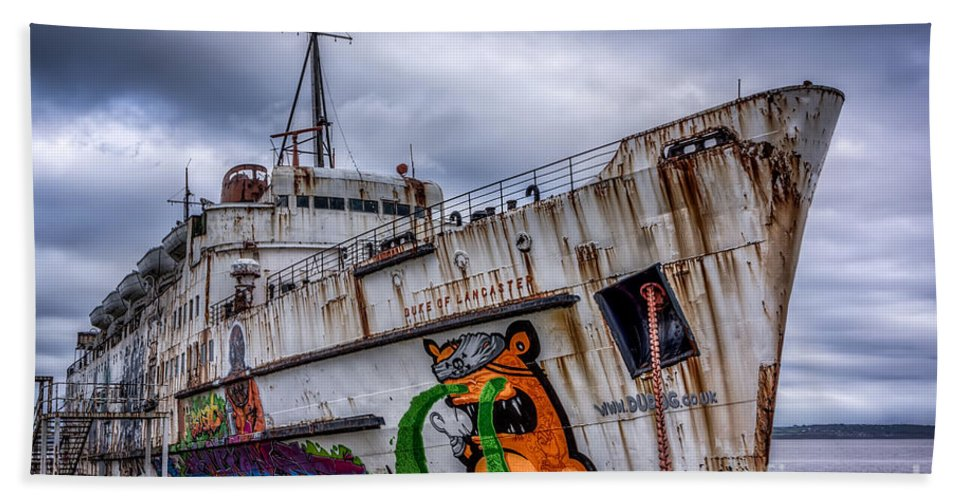 Abandoned Hand Towel featuring the photograph The Duke Of Lancaster by Adrian Evans