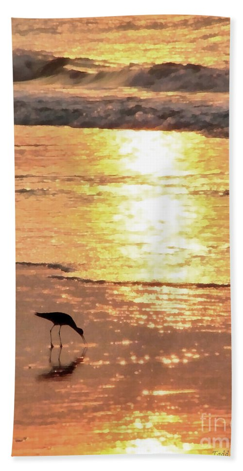 Landscape Bath Sheet featuring the photograph The Early Bird by Todd Blanchard