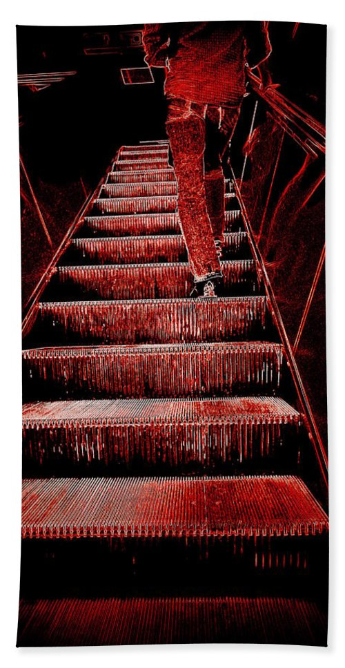 Towards Bath Sheet featuring the photograph The Escalator by Valentino Visentini