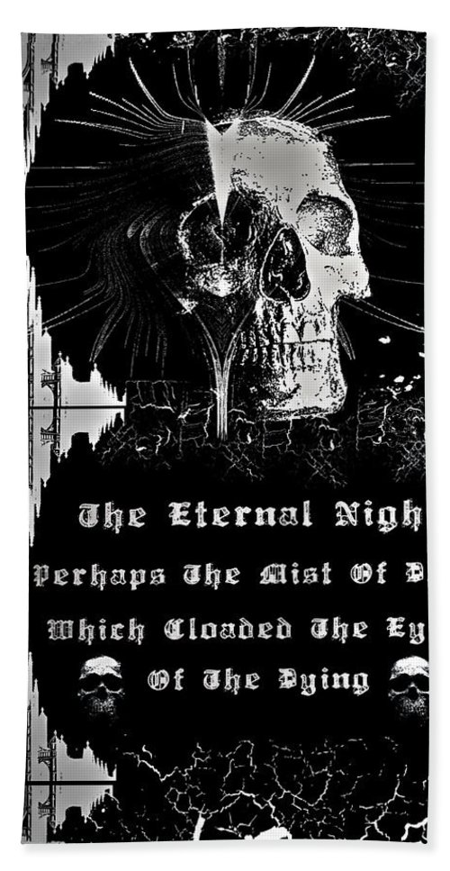 Eternal Hand Towel featuring the digital art The Eternal Night by Michael Damiani