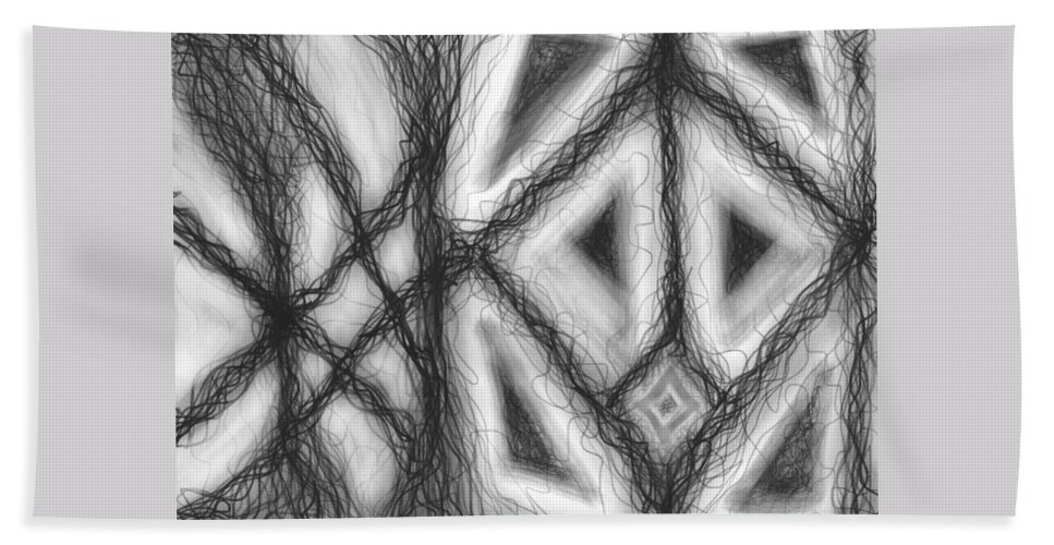 Black Hand Towel featuring the digital art The Expansion Of Energy Is Everywhere by Daina White