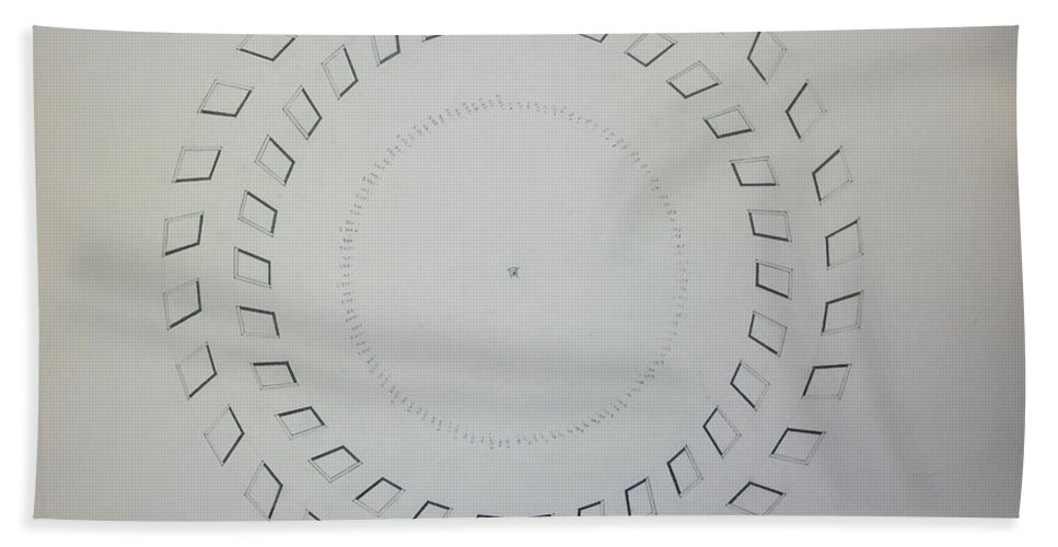 Pi Hand Towel featuring the drawing The Eye Of Pi by Jason Padgett