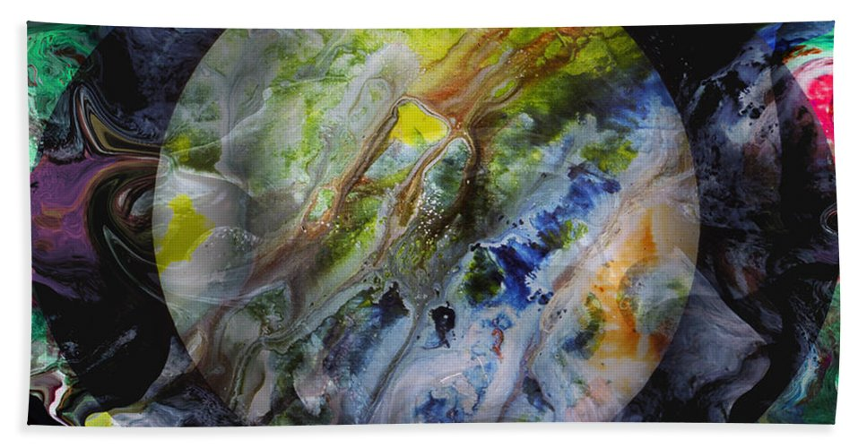 Surrealism Hand Towel featuring the digital art The Eye Of Silence by Otto Rapp