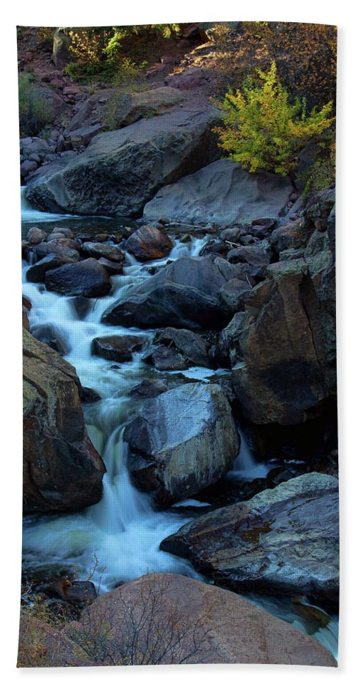 Autumn Colors Bath Sheet featuring the photograph The Falls Of Fall by Jim Garrison