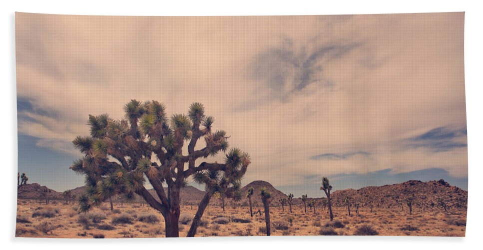 Joshua Tree National Park Hand Towel featuring the photograph The Feeling Of Freedom by Laurie Search