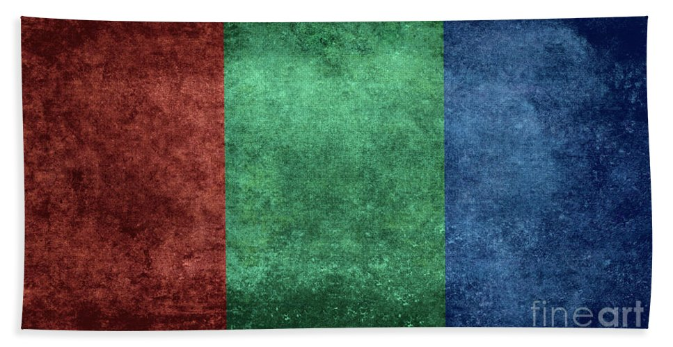 Red Hand Towel featuring the digital art The Flag Of The Planet Mars by Bruce Stanfield