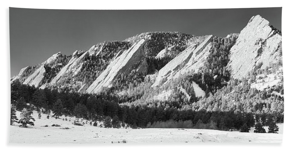 Guy Whiteley Photography Bath Sheet featuring the photograph The Flatirons by Guy Whiteley