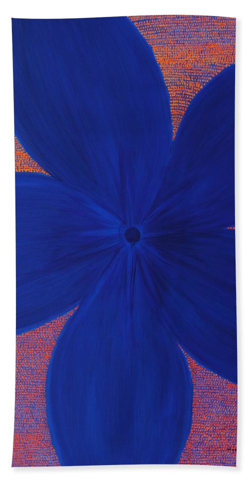 Flower Hand Towel featuring the painting The Flower by Kyung Hee Hogg