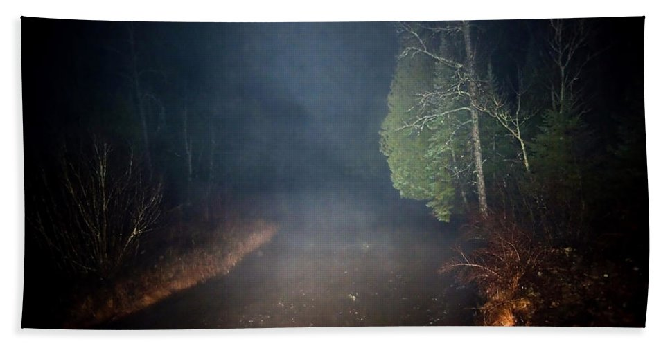 Fog Hand Towel featuring the photograph The Formless Is Not by Steven Dunn