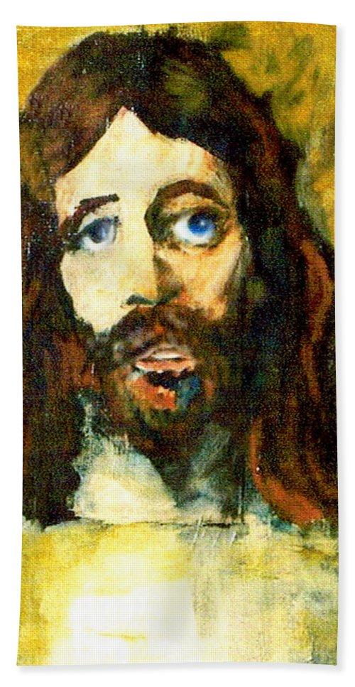 Jesus Christ Bath Towel featuring the painting The Galilean by Seth Weaver