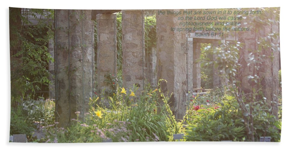 Nature Hand Towel featuring the photograph The Gardens by Debbie Nobile