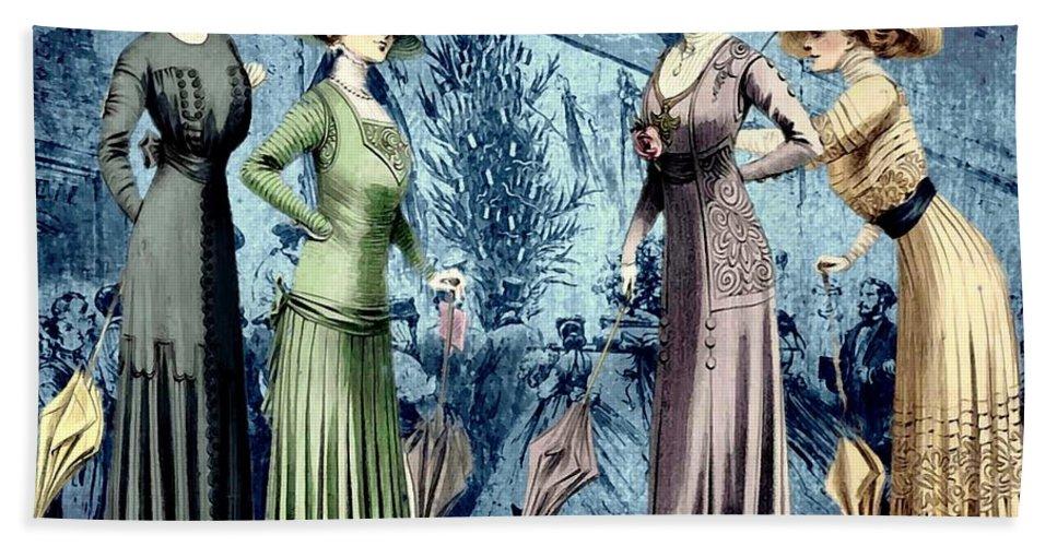 Fashion Bath Sheet featuring the digital art The Girls by John Madison