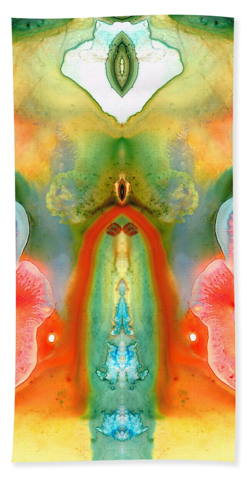 Goddess Bath Sheet featuring the painting The Goddess - Abstract Art By Sharon Cummings by Sharon Cummings