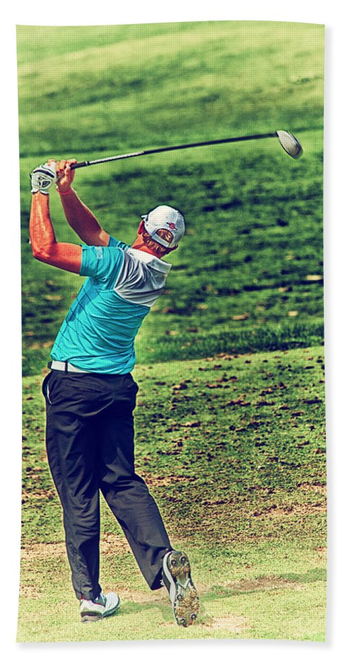 Golf Hand Towel featuring the photograph The Golf Swing by Karol Livote