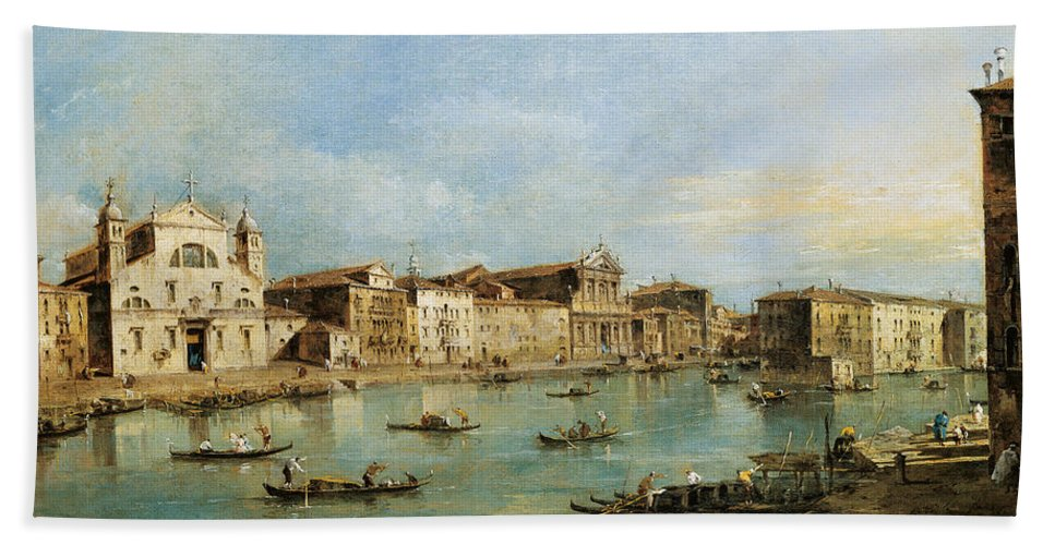 Venice Hand Towel featuring the painting The Grand Canal by Francesco Guardi