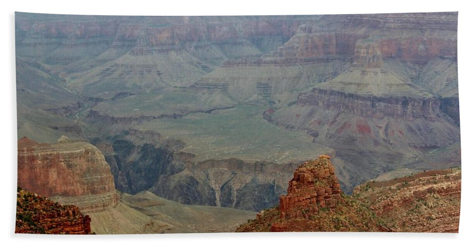 South Rim Hand Towel featuring the photograph The Grand Canyon by Cynthia Guinn