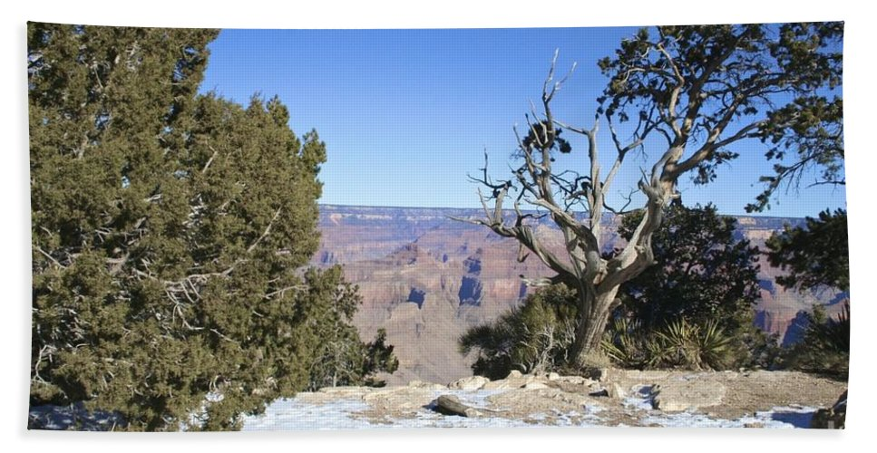Grand Hand Towel featuring the photograph The Grand Canyon In January by Christy Gendalia