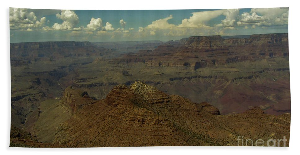 Lovejoy Bath Sheet featuring the painting The Grand Canyon by Lovejoy Creations