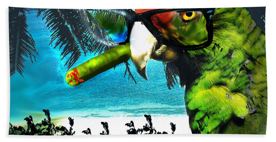 The Great Bird Of Casablanca Hand Towel featuring the digital art The Great Bird Of Casablanca by Seth Weaver