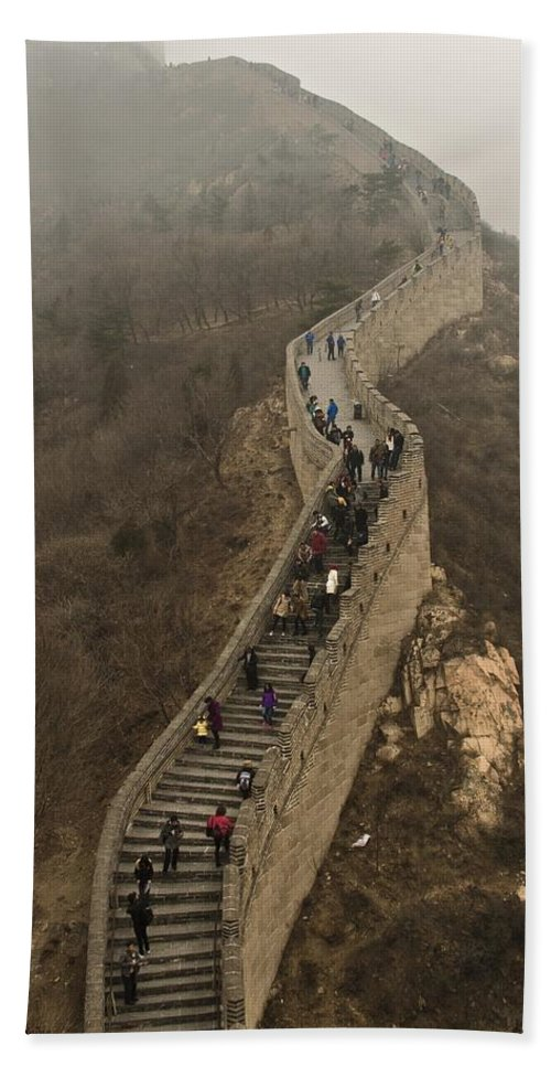 Great Wall Of China Hand Towel featuring the photograph The Great Wall Of China At Badaling - 3 by Hany J