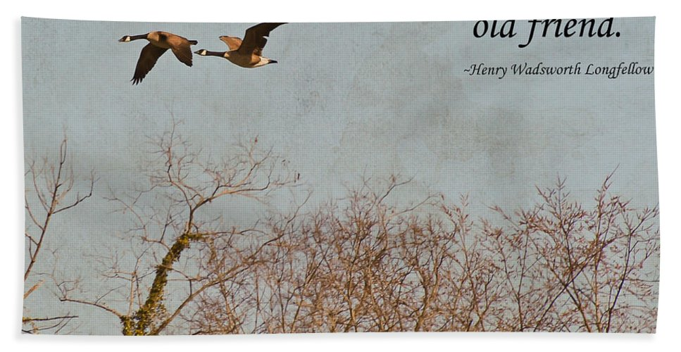 Geese Hand Towel featuring the photograph The Hand Of Friendship by Kerri Farley